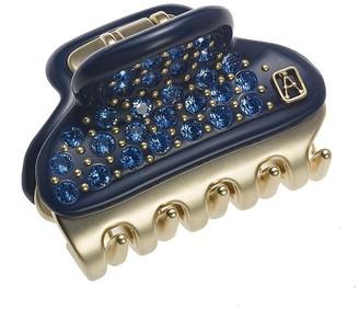 Alexandre de Paris Vendome Clip Blue Full Strass 4.5Cm