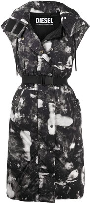 Diesel Graphic-Print Sleeveless Coat