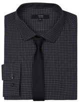 George Long Sleeve Slim Fit Shirt & Tie Set