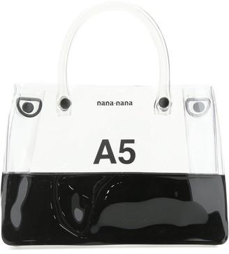 Nana-Nana Two Tone A5 Top Handle Bag