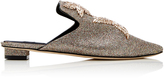 Sanayi 313 Stelle Embroidered Metallic Slippers