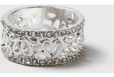 Dorothy Perkins Womens Cut Out Flower Ring- Silver