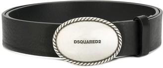 DSQUARED2 Embossed Metal Buckle Belt