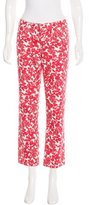 Tory Burch Printed Crop Jeans