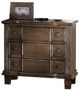 ACME Furniture Baudouin Weathered 3 Drawer Nightstand