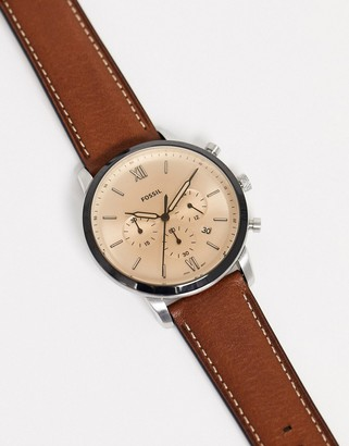 Fossil FS5627 Neutra Chrono leather watch in brown