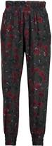 Mother of Pearl Rita floral-print silk-crepe pants