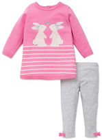 Little Me Baby Girls Two-Piece Bunny Sweater and Leggings Set