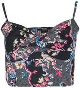 Select Fashion Fashion Womens Multi Japanese Floral Print Bralet - size 14