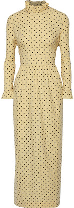 Baum und Pferdgarten Alitha Ruffle-trimmed Printed Cotton-blend Maxi Dress