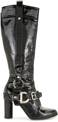 Dolce & Gabbana Pre-Owned 85mm Patent Boots