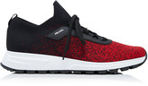 Prada Knit 2 Mesh And Rubber Sneakers