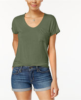 Planet Gold Juniors' High-Low Pocket T-Shirt
