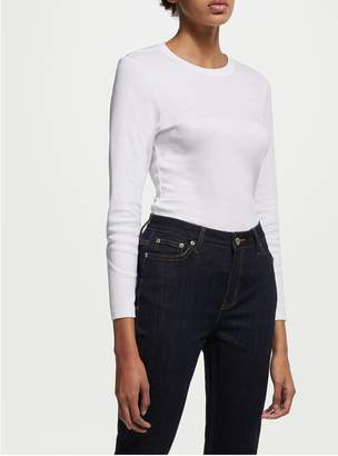 John Lewis & Partners Long Sleeve Crew Neck T-Shirt