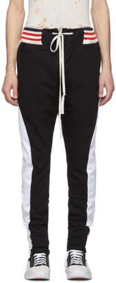 Greg Lauren Black Long Borg Lounge Pants