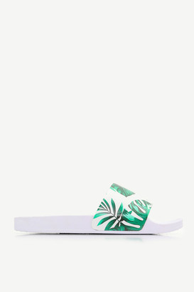 Ardene Tropical Print Pool Slides