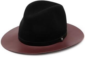 Rag & Bone two-tone Fedora hat