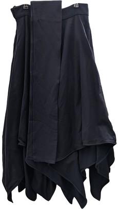 DELPOZO Blue Wool Skirt for Women Vintage
