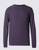 Limited Edition Cotton Blend Textured Slim Fit Jumper