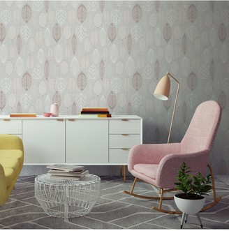 Superfresco Easy Scandi Leaf Blush Wallpaper