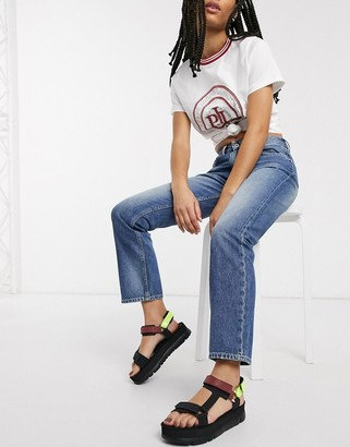Pepe Jeans Pepe Mary striaght leg jeans in blue light wash