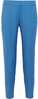 Stella McCartney Vivian Wool-piqué Tapered Pants - Light blue