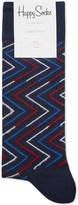 Happy Socks Zigzag print cotton-blend socks