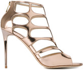 Jimmy Choo Ren 85 caged sandals - women - Leather/Patent Leather - 35