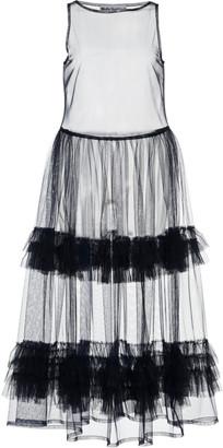 Molly Goddard Nellie Ruffled Tulle Midi Dress