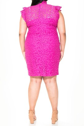 Alexia Admor Carrie Black Lace Sheath Dress