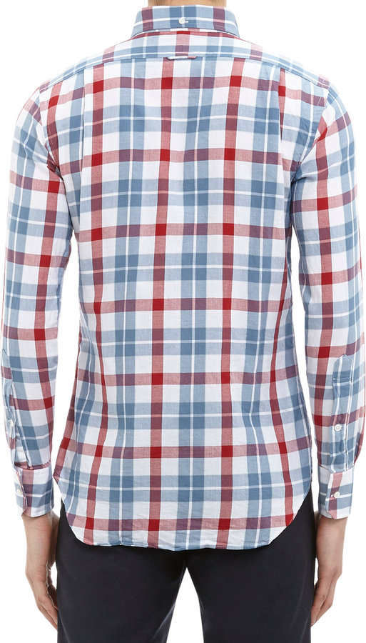 Thom Browne Plaid Button-down Shirt