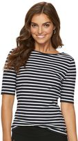Chaps Women's Crisscross-Back Scoopneck Tee