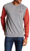 RVCA Balance Arc Colorblock Crew Neck Sweatshirt