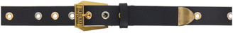 Versace Jeans Couture Black Multi-Stud Couture I Belt