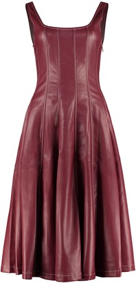 STAUD Wells Faux Leather Dress