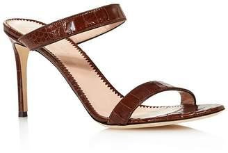Giuseppe Zanotti Women's Croc-Embossed Double Strap High-Heel Sandals