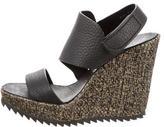 Pedro Garcia Leather Wedge Sandals