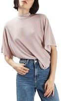 Topshop Women's Metallic Batwing Shirt