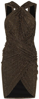 Alexandre Vauthier Gathered Front Halterneck Mini Dress