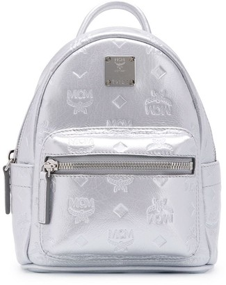 MCM metallic logo backpack