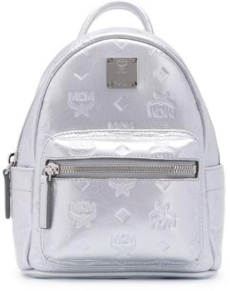 MCM Metallic Logo Backpack