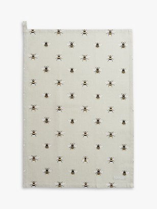 Sophie Allport Bee Tea Towel, Green/Multi