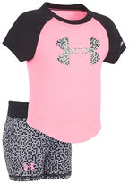 Under Armour Baby Girls Glazed Dot Two-Piece Tee and Shorts Set