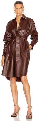 REMAIN Bologna Leather Dress in Port Royale | FWRD