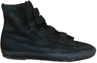Yohji Yamamoto Black Leather Trainers