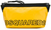 DSQUARED2 two-tone logo wash bag