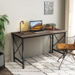 Overstock Writing Computer Desk,Modern Simple Study Desk,Industrial Vintage Laptop Table