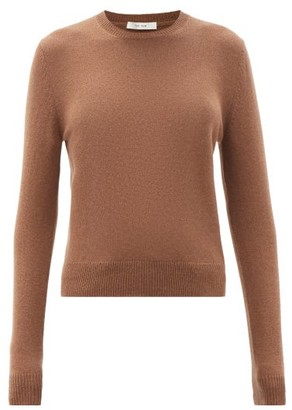 The Row Arturo Round-neck Cashmere Sweater - Brown