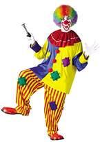 Fun World Costumes Fun World Men's Big Top Clown Costume, Multicolored