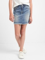 Gap Distressed denim skirt